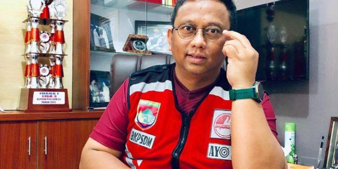 H Rudi Irawan Ishak ketua umum Persimura. FOTO : VIRALSUMSEL.COM
