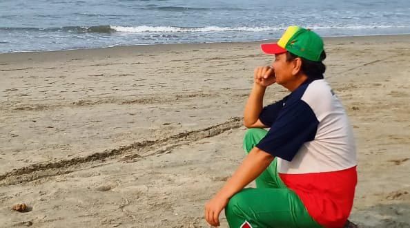 H Dhennie Zainal ketua umum KONI Sumsel. FOTO : VIRALSUMSEL.COM