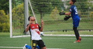 Pemain PPLP-D Muba selebrasi usai cetak gol. FOTO : VIRALSUMSEL.COM