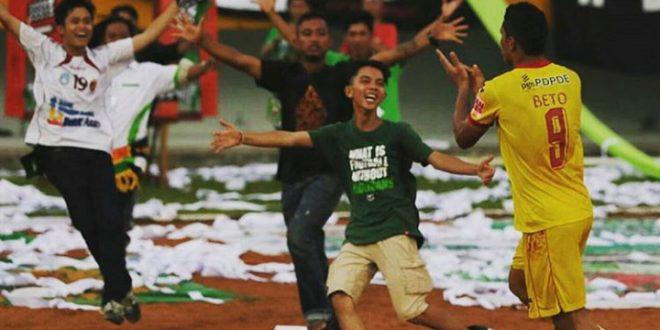 Selebrasi Beto saat masih berseragam Sriwijaya FC. FOTO : IG FOR VIRALSUMSEL.COM