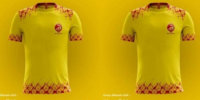 Jersey Sriwijaya FC warna kuning. FOTO : IG