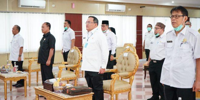 Dr Dodi Reza Alex Bupati Kabupaten Musi Banyuasin siap bantu pangan warga Muba. FOTO : VIRALSUMSEL.COM