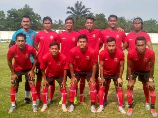 Starting eleven Sriwijaya FC uji coba vs Muara Enim Selection. FOTO : VIRALSUMSEL.COM