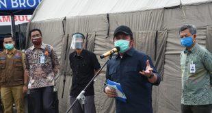 Gubernur Provinsi Sumatera Selatan (Sumsel) H. Herman Deru memberikan keluasan kepada daerah ajukan PSBB. FOTO : VIRALSUMSEL.COM