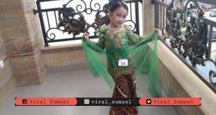 Nayra Putri Alika model cilik Palembang. FOTO : VIRALSUMSEL,COM