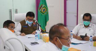 Nasrun Umar Sekda Provinsi Sumsel rapat percepatan pembangunan lanjutan jalan tol Simpang Indralaya - Muara Enim. FOTO : VIRALSUMSEL.COM