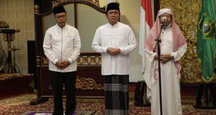 Gubernur Sumsel H.Herman Deru anjurkan shalat tarawih di rumah pada bulan suci Ramadhan 1441 Hijriah. FOTO : VIRALSUMSEL.COM