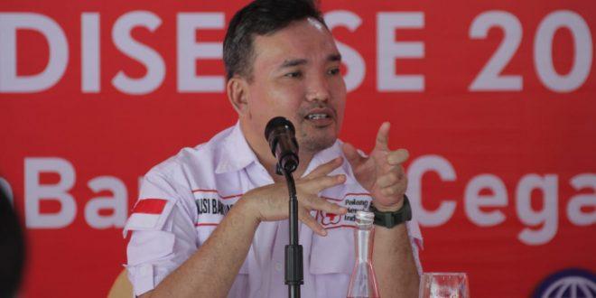 Beni Hernedi Ketua PMI Kabupaten Musi Banyuasin. FOTO : VIRALSUMSEL.COM