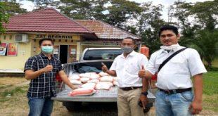GSSL Group lakukan aksi tanggap, salurkan bantuan paket sembako bagi warga masyarakat. FOTO :VIRALSUMSEL.COM