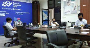 Endang Tri Wahyuningsih Kepala BPS Sumsel rilis kegiatan ekspor dan impor Sumsel secara streaming. FOTO : VIRALSUMSEL.COM