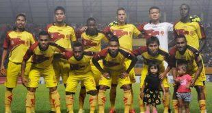 Starting eleven Sriwijaya FC pada laga awal QNB League 2015. FOTO : IST