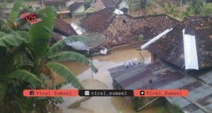 Kondisi banjir bandang di dua kecamatan di Kabupaten OKU Selatan. FOTO : IG