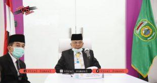 H Mawardi Yahya Wakil Gubernur Sumsel dalam Rapat Paripurna DPRD Sumsel. FOTO :VIRALSUMSEL.COM