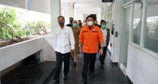 Gubernur Sumsel Herman Deru mendatangi Kantor Walikota Palembang. FOTO :VIRALSUMSEL.COM