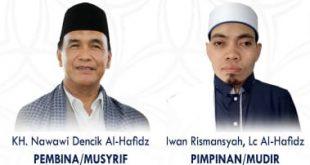 KH Nawawi Dencik Al-Hafidz dan Iwan Rismansyah LC Al-HAfidz. FOTO : VIRALSUMSEL.COM