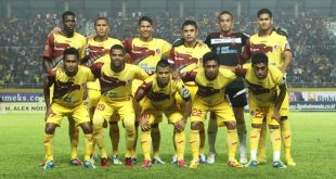 Starting eleven Sriwijaya FC musim 2012/2013 di ajang Indonesia Super League. FOTO : DOK SFC