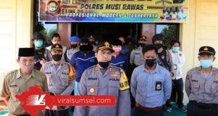Oknum Kadus dan Anggota BPD diamankan di Polres Musi Rawas diduga potong dana BLT DD Covid-19. FOTO :VIRALSUMSEL.COM
