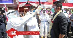 H Herman Deru gubernur Sumsel saat peletakan batu pertama RSUD Baturaja. FOTO :VIRALSUMSEL.COM