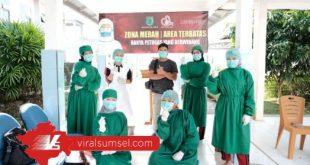 Pasien sembuh Covid-19 di RSUD Bayung Lencir diperbolehkan pulang. FOTO : VIRALSUMSEL.COM