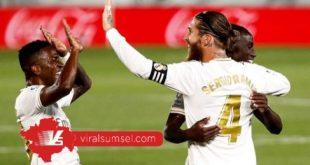 Para pemain Real Madrid selebrasi merayakan gol di ajang Liga Spanyol. FOTO : IG REAL MADRID