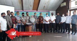 Anggota Komisi III DPRD Kabupaten Empat Lawang kunker ke KONI Sumsel. FOTO :VIRALSUMSEL.COM