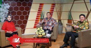 Gubernur Sumsel H Herman Deru bersama Ketua KPK Firli Bahuri pada acara Talkshow di salah satu stasiun televisi, Kamis (9/7/2020) petang. FOTO :VIRALSUMSEL.COM