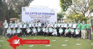 Dewan Pengurus Palembang Golf Club (PGC) Masa Bakti 2020-2023 resmi dilantik Gubernur Provinsi Sumatera Selatan (Sumsel) H. Herman Deru. FOTO : VIRALSUMSEL.COM