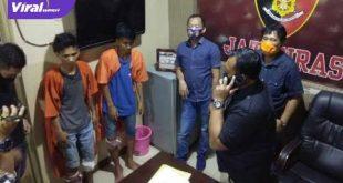 Dua pelaku jambret Septian (25) dan Soni Setiawan (19) diamankan anggota Unit IV Subdit III Jatanras Ditreskrimum Polda Sumsel. FOTO : VIRALSUMSEL.COM
