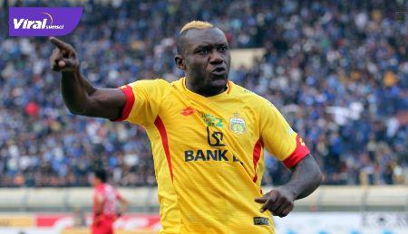 Herman Dzumafo penyerang naturalisasi asal Kamerun. FOTO : IG BHAYANGKARA FC