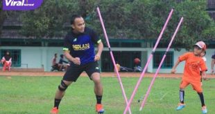 Oktavianus mantan winger Sriwijaya FC dirikan SSB Golazo. FOTO : VIRALSUMSEL.COM