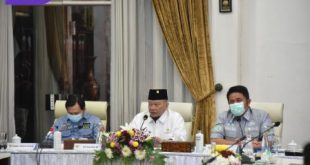 Ketua DPD RI LaNyala Mahmud Mattalitti bersama Gubernur Sumsel H Herman Deru. FOTO : VIRALSUMSEL.COM