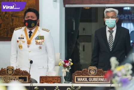 Gubernur Sumsel, H Herman Deru dan Wakil Gubernur Sumsel, H Mawardi Yahya. FOTO : VIRALUMSEL.COM