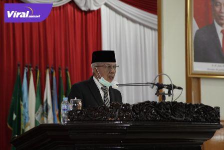 H Mawardi Yahya Wakil Gubernur Sumatera Selatan hadiri Paripurna DPRD Provinsi Sumsel. FOTO :VIRALSUMSEL.COM
