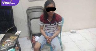 AF salah satu pelaku pencurian handphone di Warung Seafood diamankan Jatanras Polda Sumsel. FOTO : VIRALSUMSEL.COM