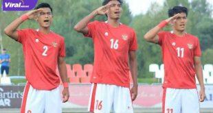 Para pemain Tim Nasional Indonesia U-19. FOTO :IG PSSI