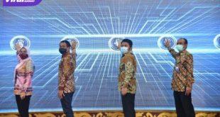 Launching Aplikasi Anjungan Bansos Sriwijaya (ABS) di Griya Agung, Sabtu (24/10/2020) siang. FOTO : VIRALSUMSEL.COM