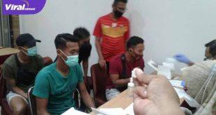Pemain Sriwijaya FC gelar rapid test Covid-19 di Hotel Majestic, Palembang. FOTO ; VIRALSUMSEL.COM