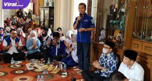 H Ishak Mekki Ketua Umum DPW Partai Demokrat Sumsel hadiri kampanye Panca-Ardani di Tanjung Raja. FOTO :VIRALSUMSEL.COM