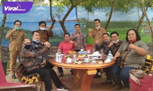 Bupati Banyuasin H Askolani terima audensi pengurus JMSI Sumsel. FOTO :VIRALSUMSEL.COM