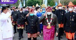 Gubernur Sumsel H Herman Deru hadiri HUT Kabupaten OKU Timur. FOTO :VIRALSUMSEL.COM