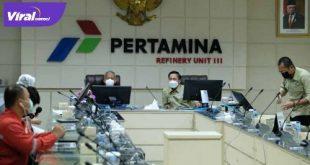 Presiden PS Palembang, Drs Ratu Dewa Msi audensi dengan PT Pertamina. FOTO :VIRALSUMSEL.COM