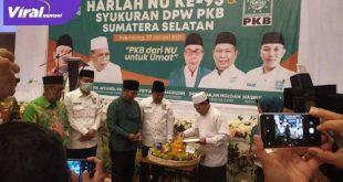 Ketua PKB Sumsel Ramlan Holda hadiri Harlah Nahdatul Ulama ke-95 di Hotel The Zuri, Palembang, Sabtu (30/1/2021). FOTO : VIRALSUMSEL.COM