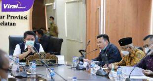 Gubernur Sumsel H Herman Deru terima audensi Ketua DPRD Kota Palembang Zainal Abidin dan rombongan. FOTO : VIRALSUMSEL.COM
