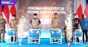 Gubernur Sumsel H Herman Deru didampingi Bupati OI Ilyas Panji Alam dan Wakil Ketua DPRD Sumsel H Muchendi Ishak Mekki. FOTO :VIRALSUMSEL.COM
