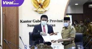 Gubernur Sumsel H Herman Deru usai rapat bersama Bupati OKU H Kuryana Aziz. FOTO :VIRALSUMSEL.COM