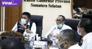Gubernur Sumsel H Herman Deru bersama Bupati PALI H Heri Amalindo. FOTO :VIRALSUMSEL.COM