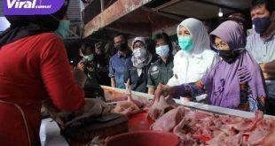Wakil Walikota Palembang Fitrianti Agustinda sidak Pasar Lemabang. FOTO :VIRALSUMSEL.COM