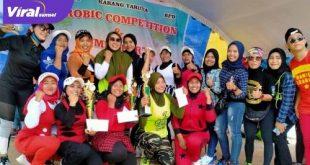 Para juara Aerobic Competition dan Zumba Party di Kecamatan Sungai Lilin. FOTO : VIRALSUMSEL.COM