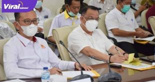 Ketua Umum KONI Muba Raflen ST bersama Staf Khusus Bupati Achmad Haris. FOTO : VIRALSUMSEL.COM