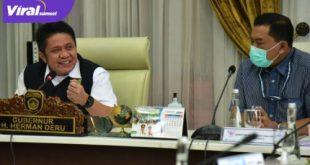 Gubernur Sumsel H Herman Deru bersama Direktorat Koordinasi dan Supervisi KPK Wilayah Wilayah II KPK RI melakukan MCP. FOTO : VIRALSUMSEL.COM